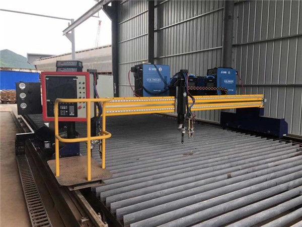 Automaattinen CNC-plasmaleikkuri, kaksinkertainen ajo 4m span 15m