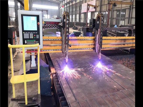 Tuplavetoinen Pukki CNC -leikkauskone H-palkki tuotantolinja Hypertherm CNC -järjestelmä
