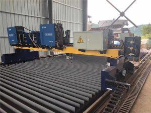 Tuplavetoinen Pukki CNC -plasmaleikkuri kiinteän teräksen H-palkin tuotantolinjan leikkaamiseen